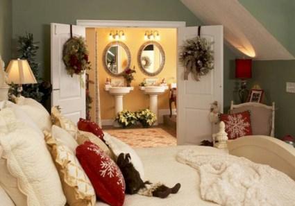 Inspiring christmas bedroom décoration ideas 28