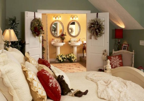 Inspiring christmas bedroom décoration ideas 28