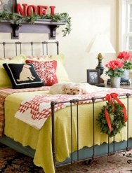 Inspiring christmas bedroom décoration ideas 35