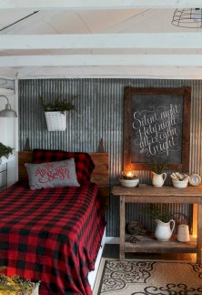 Inspiring christmas bedroom décoration ideas 44