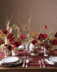 Inspiring christmas decoration ideas using plaid 46