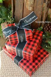 Inspiring christmas decoration ideas using plaid 48