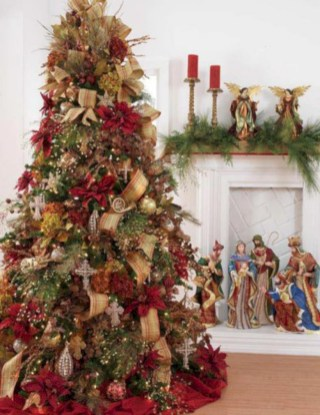 Inspiring christmas decorations ideas with traditional touch 05