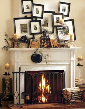 Inspiring halloween fireplace mantel ideas 13
