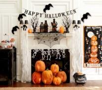 Inspiring halloween fireplace mantel ideas 22