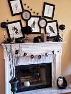 Inspiring halloween fireplace mantel ideas 23