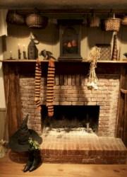 Inspiring halloween fireplace mantel ideas 28