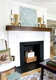Inspiring halloween fireplace mantel ideas 39