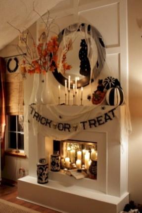 Inspiring halloween fireplace mantel ideas 46