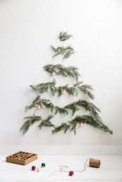 Minimalist and modern christmas tree décoration ideas 35