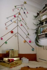 Minimalist and modern christmas tree décoration ideas 41