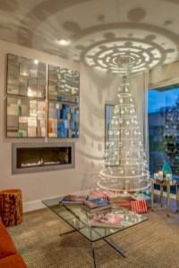 Minimalist and modern christmas tree décoration ideas 46