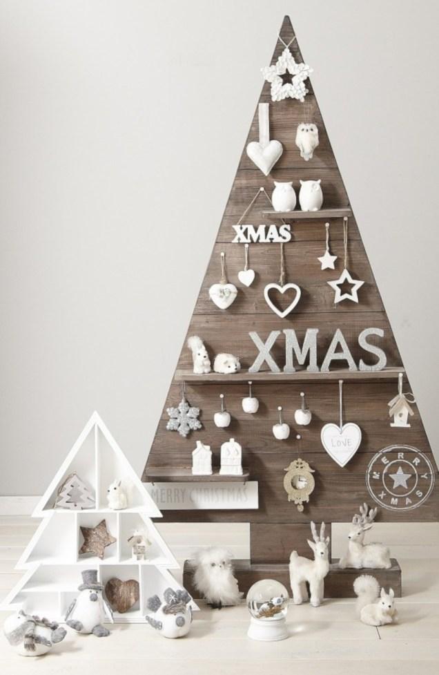 Minimalist and modern christmas tree décoration ideas 55