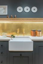 Modern bathroom with floating sink decor (1)