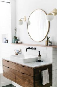 Modern bathroom with floating sink decor (20)