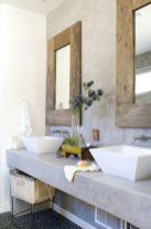 Modern bathroom with floating sink decor (27)