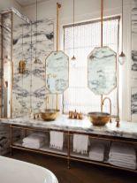 Modern bathroom with floating sink decor (29)