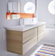 Modern bathroom with floating sink decor (36)