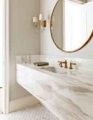Modern bathroom with floating sink decor (42)