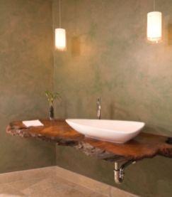 Modern bathroom with floating sink decor (45)