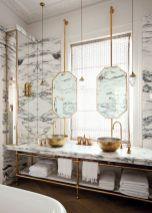 Modern bathroom with floating sink decor (48)