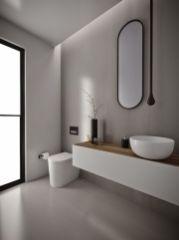 Modern bathroom with floating sink decor (56)