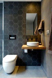 Modern bathroom with floating sink decor (59)