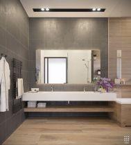 Modern bathroom with floating sink decor (61)