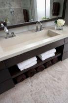 Modern bathroom with floating sink decor (63)