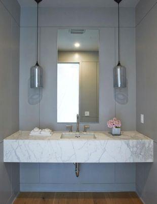 Modern bathroom with floating sink decor (68)