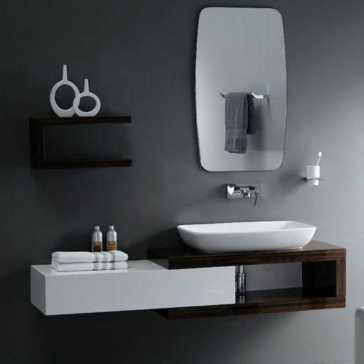 Modern bathroom with floating sink decor (69)