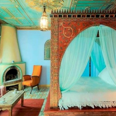 Moroccan themed bedroom design ideas 36