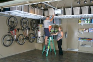 Neat and well-organized garage home decor ideas (10)