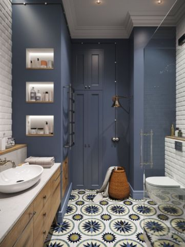 Paint color bathroom ideas for teens (34)