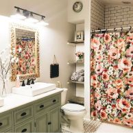 Paint colors farmhouse bathroom ideas (2)