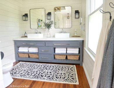 Paint colors farmhouse bathroom ideas (26)