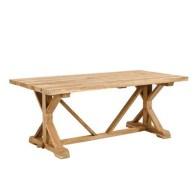 Rectangular folding outdoor dining tables design ideas 11