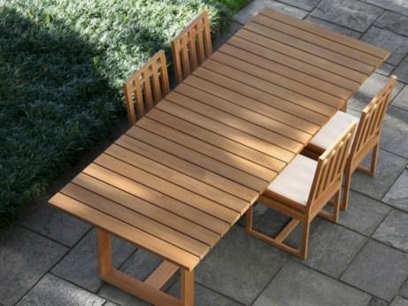 Rectangular folding outdoor dining tables design ideas 34