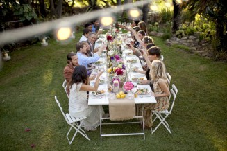 Rectangular folding outdoor dining tables design ideas 47