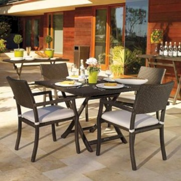 Rectangular folding outdoor dining tables design ideas 52