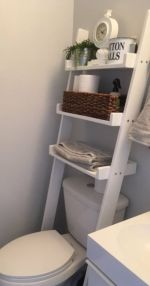 Rustic diy bathroom storage ideas (10)