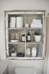 Rustic diy bathroom storage ideas (21)
