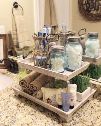 Rustic diy bathroom storage ideas (26)