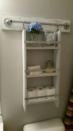 Rustic diy bathroom storage ideas (29)