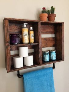 Rustic diy bathroom storage ideas (31)