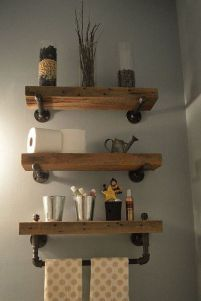 Rustic diy bathroom storage ideas (33)