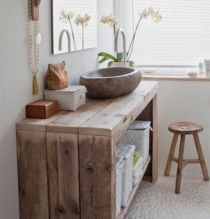 Rustic diy bathroom storage ideas (40)