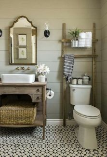 Rustic diy bathroom storage ideas (48)