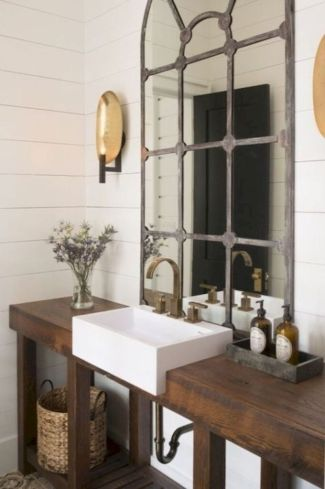 Rustic farmhouse bathroom ideas you will love (13)