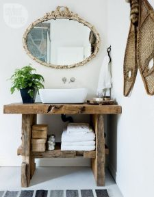 Rustic farmhouse bathroom ideas you will love (20)